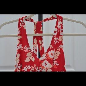 Ann Taylor floral halter dress